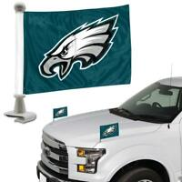NFL Philadelphia Eagles Ambassador Hood / Trunk Car Flag- Set of Two