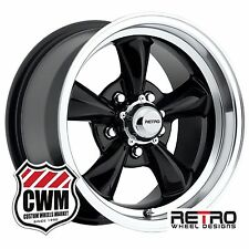 "15 inch 15x8"" Gloss Black Wheels Rims for Ford Mustang 1965-1973"
