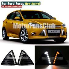 For Ford Focus DRL Fog 2011 2012 2013 2014 Turn Signal LED Daytime Running Light