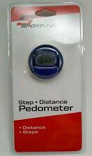 Sportline Pedometer Blue 2-Function Step & Distance *Brand New Sealed