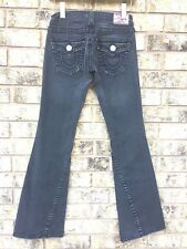 True Religion Black Jeans World Tour Joey Big T 27 x 32 Flare Low Rise RN 112790