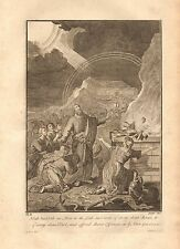 1770  ANTIQUE PRINT -BIBLE-GEN 8.20 NOAH BUILDETH AN ALTAR TO THE LORD