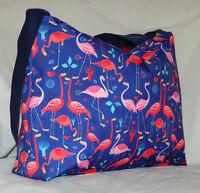 Flamingo Zip Top Tote Bag, Handmade Flamingo Bag, Choose Your Colour