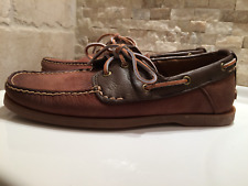 Men's Timberland Classic  2 Eye Leather Boat Shoes.