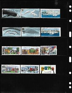 Canada 2000, large different commemorative used stamps off paper see photos #10