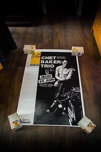 "JAZZ CONCERT CHET BAKER TRIO 1987 31"" x 47"" Rolled Music Art Poster Original"