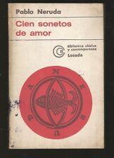 Pablo Neruda Book Cien Sonetos De Amor 1961 Losada