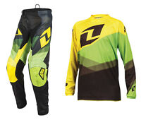 2016 ONE INDUSTRIES YOUTH ATOM MOTOCROSS MX KIT SHIFTER YELLOW GREEN pant jersey
