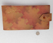 Vintage collar case for soft collars Art Deco 1920s leather wallet travel pouch