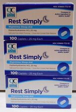 Rest Simply Nighttime Sleep Aid (Compare to Simply Sleep) 100ct Caplets -3 Pack
