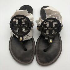 Tory Burch Miller Women's Size 8.5  Flat Brown Leather Sandal