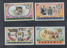 Tanzania 1977 QEII Jubilee Sc 87-90 Complete Mint Very Lightly Hinged