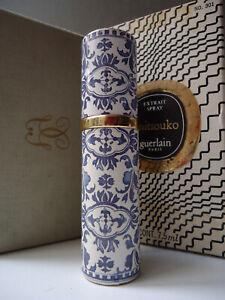 GUERLAIN Mitsouko PARFUM EXTRAIT 7.5oz Vintage 1970s Delft Purse Spray NotA1 Box