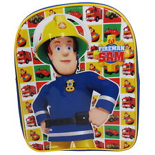 NEW OFFICIAL Fireman Sam Boys Kids Backpack Rucksack Nursery School Bag