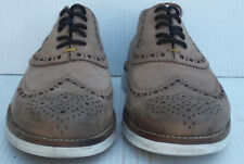 BED STU - Men's  Brown Distressed Leather Wing Tip Oxfords Shoes -- Size 12