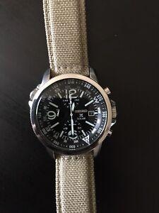Seiko Chronograph Watch model SSC 293 P solar chrono men's | Used