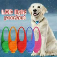 Pet Cat Dog Puppy LED Flashing Collar Tag Clip Buckle Safety Night Light Pendant