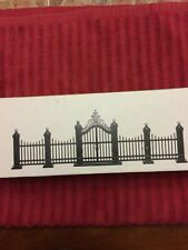 Dept 56 Village Wrought Iron Gate And Fence #55140 Mint In Box