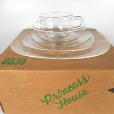 RARE Princess House Crystal Heritage Founder Club 5pc Dinnerware Plates Bowl Cup