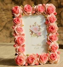 Retro Pink Rose Flower Home Decor Photo Frame Picture Frame Resin 4'' x 6''