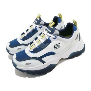 Skechers Kozmiks 1.0 White Blue Yellow Men Casual Shoes Sneakers 888015-WBLY