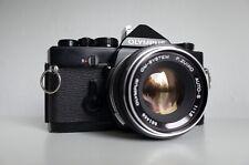 [EXC] Olympus OM-1N | BLACK RARE | Zuiko 50mm f/1.8 | METER WORKS | OM-4 ti
