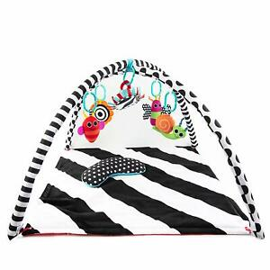 Sassy Black & White Tummy Time Playmat for Tummy or Back Play with Detachable To