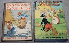 VINTAGE UNGLE WIGGILYS ADVENTURES 1940 & ON SUGAR ISLAND 1926 BOOKS