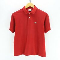 Lacoste Women's Polo Shirt Size 16 in Red Cotton Short Sleeve #EF4516