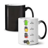 Battery Life Hour NEW Colour Changing Tea Coffee Mug 11 oz | Wellcoda