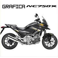 ADESIVI DECAL STICKERS HONDA NC750X NC 750 X RACING CARENA GRAFICA BIANCO ORO