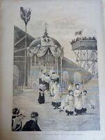 Lotto n. 5 Stampe Castellammare di Stabia Fogli di giornale del 1800 (P384) Come