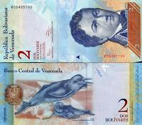 Venezuela / Venezuela 2 Bolivares Banknoten 2014 UNC.
