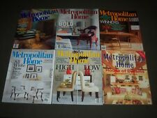 1990S-2000S METROPOLITAN HOME MAGAZINE LOT OF 11 ISSUES - GREAT COVERS - PB 820