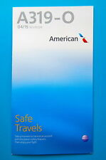 AMERICAN AIRLINES SAFETY CARD-- AIRBUS 319-O