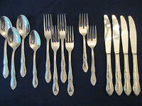 SET of 14 PIECES! Vintage ROGERS - ONEIDA stainless: FENWAY pattern: EXCELLENT!