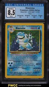 2000 Pokemon Italian Base Set Holo Blastoise #2 CGC 8.5 NM-MT+