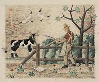 Rudolf SCHMID (1896-1971), Entwurf für ein Marmormosaik(?), Aquarell,  um 1960