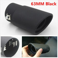 DIY Black Stainless Steel Car Autos Vehicle Exhaust Pipe Tip Tail Muffler Cover