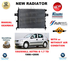 FOR VAUXHALL ASTRA G 1.7 TD 1998->2006 NEW ENGINE COOLING RADIATOR OE QUALITY