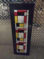 Vintage Mid Century Modern Piet Mondrian Enamel Tile Wall Hanging