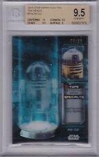 STAR WARS 2015 TOPPS HIGH TEK TEK HEADS TH4 R2-D2 29/50 BGS 9.5 GEM MINT