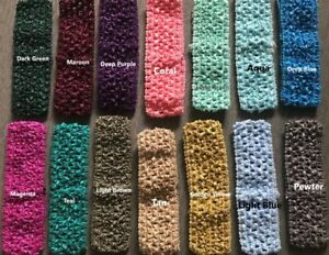 "1.5""x6"" Crochet Headband Tutu Waistband Tube Top Tutu Elastic Tutu Skirt"