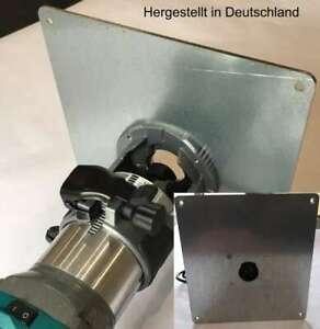 Einlegeplatte Stahl verzinkt Frästisch für makita DRT50Z Akku-Oberfräse 18,0 V