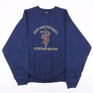 Vintage FRUIT OF THE LOOM USA College Blue 90s Pullover Sweatshirt Mens L