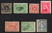 Newfoundland 7 Stamps c1890-98 Mounted Mint Used and Unused (few faults) (6132)