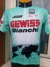 MAGLIA BICI CICLISMO MAILLOT SHIRT CYCLISM SPORT TEAM GEWISS BIANCHI SANTINI L