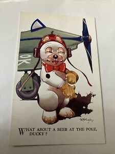 Bonzo Collectable Postcard Valentines No. 4310 Rare Card See Pictures