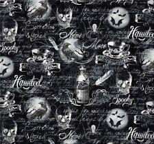 Wicked Gothic morti teste sostanze pipistrello Halloween Decorazione Patchwork sostanze Raben