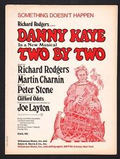 Something Doesn't Happen 1970 Danny Kaye in Two By Two Sheet Music